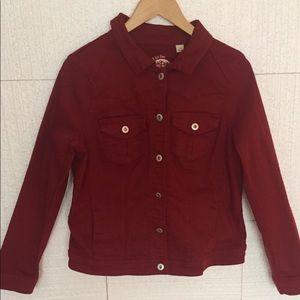 Denim Red Jacket One World